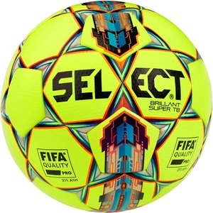 Мяч футбольный Select Brillant Super TB FIFA QUALITY (042) №5 YELLOW-RED (3615939552)