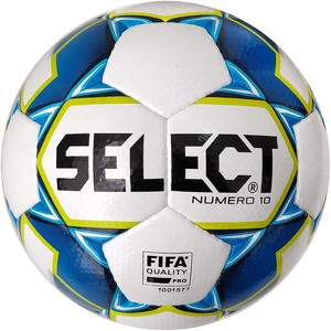 Мяч футбольный SELECT NUMERO 10 FIFA (015) №5 WHITE-BLUE-YELLOW (3675046002)