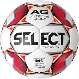 Мяч футбольный Select Flash Turf IMS (012) №5 White-Red (0575046003)