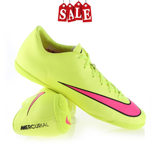 Nike Mercurial Victory V IC (салатово-розовые, 651635-760)