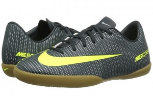 Детские Nike Jr MercurialX Vapor XI CR7 IC (серо-салатовые, 852488-376)